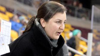 UMD Head Coach Maura Crowell, women's hockey