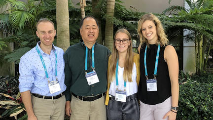 David Bohil and Professor Mark Mizuko with CSD graduate students Claire Bieganek and Cheyenne Bielmeier.