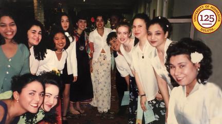 Women at a Fiesta event