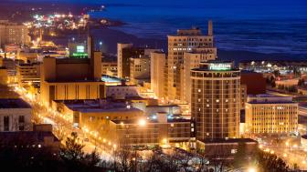 Night scene of the City of Duluth