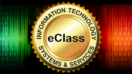 Gold Badge with the words Information Technology Systems and Services running around the edge of it.