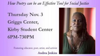 UMD Event: Andrea Jenkins - Nov. 3