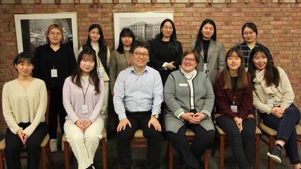 UMD Dean Jill Pinkney Pastrana with teachers from South Korea