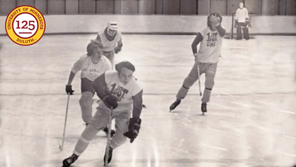 First Street Gang intramural hockey team in action.