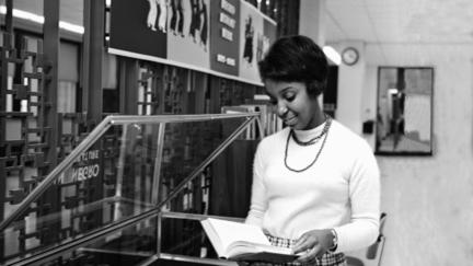 Diana Coleman Kelly in the UMD Library