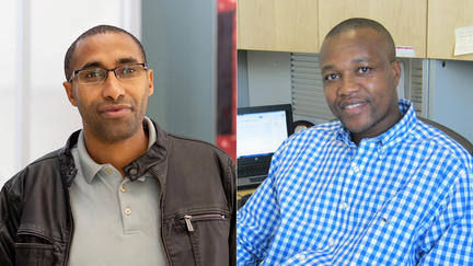 UMD faculty members Gibson Nene, Ph.D., and Melaku Abegaz, Ph.D