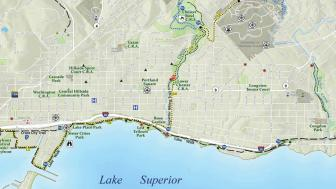 Map of Duluth's shoreline