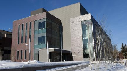 UMD's Civil Engineering building in the winter