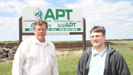 From left Doug Green, American Peat Technology CEO and UMD NRRI Scientist Igor Kolomitsyn