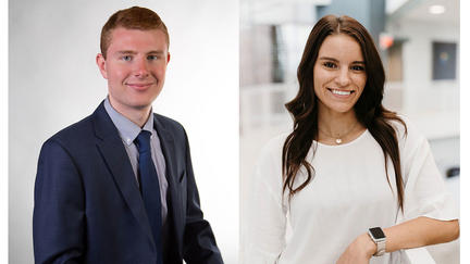UMD LSBE Professional Sales students Joel LaChappelle and Morgan Hess