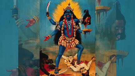 Painting of the Indian goddess Kali