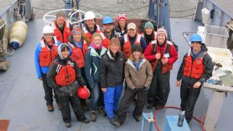 Minnesota Sea Grant educators and researchers aboard the Blue Heron