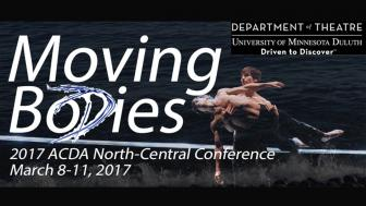 Poster for Moving Bodies showing two dancers