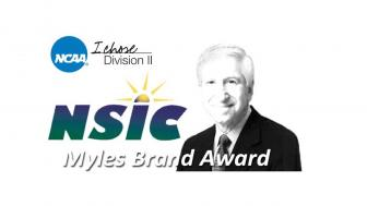 Logo for the Miles Brand Award