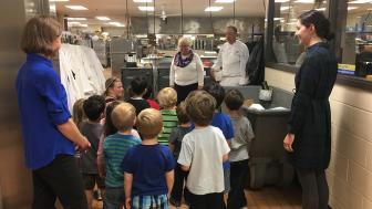UMD Children's Place toddlers visit Dining Services