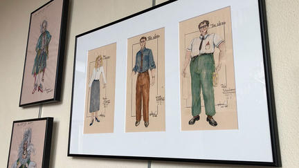 UMD Associate Professor Pat Dennis's costume drawings.