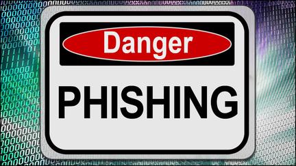 "Sign that say ""Danger Phising"""