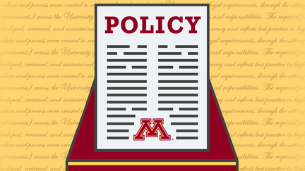 "Graphic of a piece of paper with the word ""Policy"" at the top"