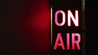 "An image of a radio ""On Air"" sign"