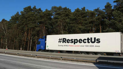 White truck with #RespectUs on the side