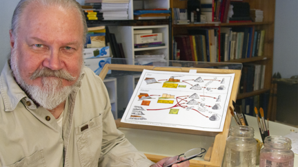 NRRI Researcher Rodney Johnson in his studio