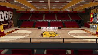 Mock-up of the renovated Romano Gym