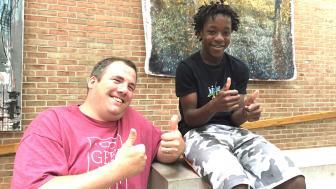 Ron Hustvedt and student Matthew Gearou