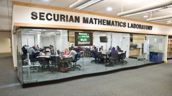 The outside of the new Securian Math and Learning Lab