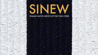 Beaded image with the word SINEW