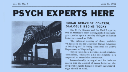 Image of newspaper article - headline says Psych Experts Here