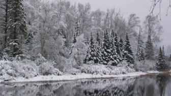 Boulder Lake ELC in winter