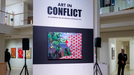 The Art in Conflict Exhibit at the Tweed Museum of Art