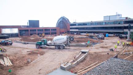 Ordean Court under construction