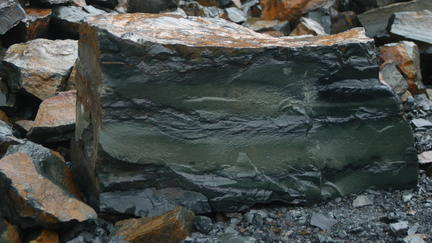 Close up of taconite rock