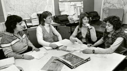 Four women from the wise women radio staff.