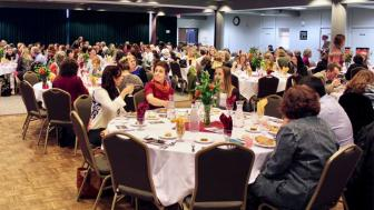 The 2016 Woman of the Year awards- people seated and eating