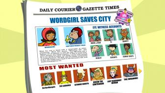 Screen shot of Word Girl showing several characters