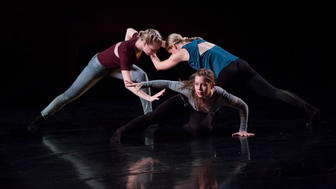 "Zenon Dance Company: Three women performing the work ""Eternal Reveal"""