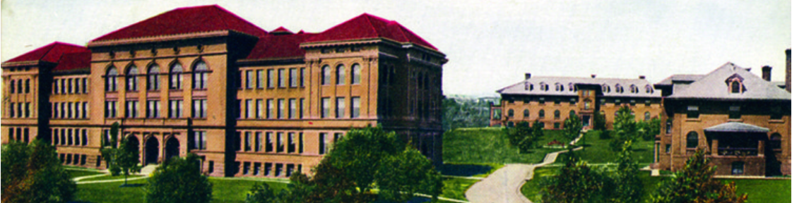 Old Main and the dorms
