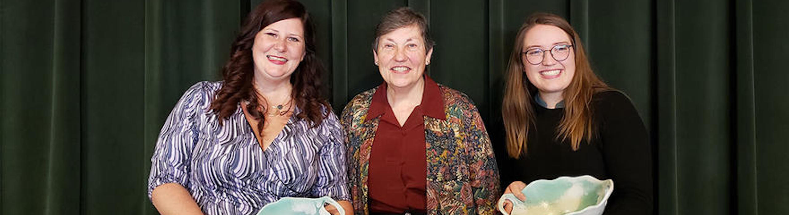 Linda Larson (center) and recipients of the Linda M. Larson Outstanding Woman of the Year Award