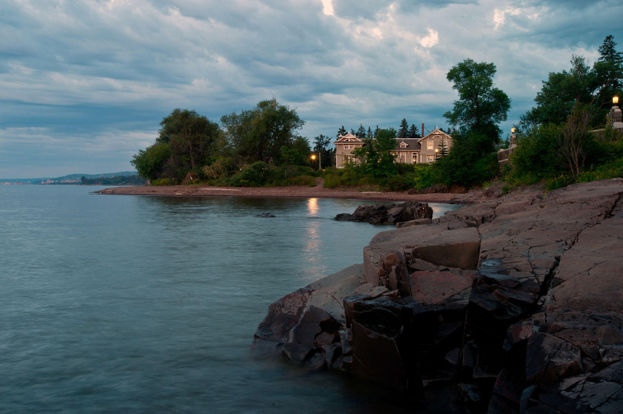 Modern image of Limnology building from the shoreline