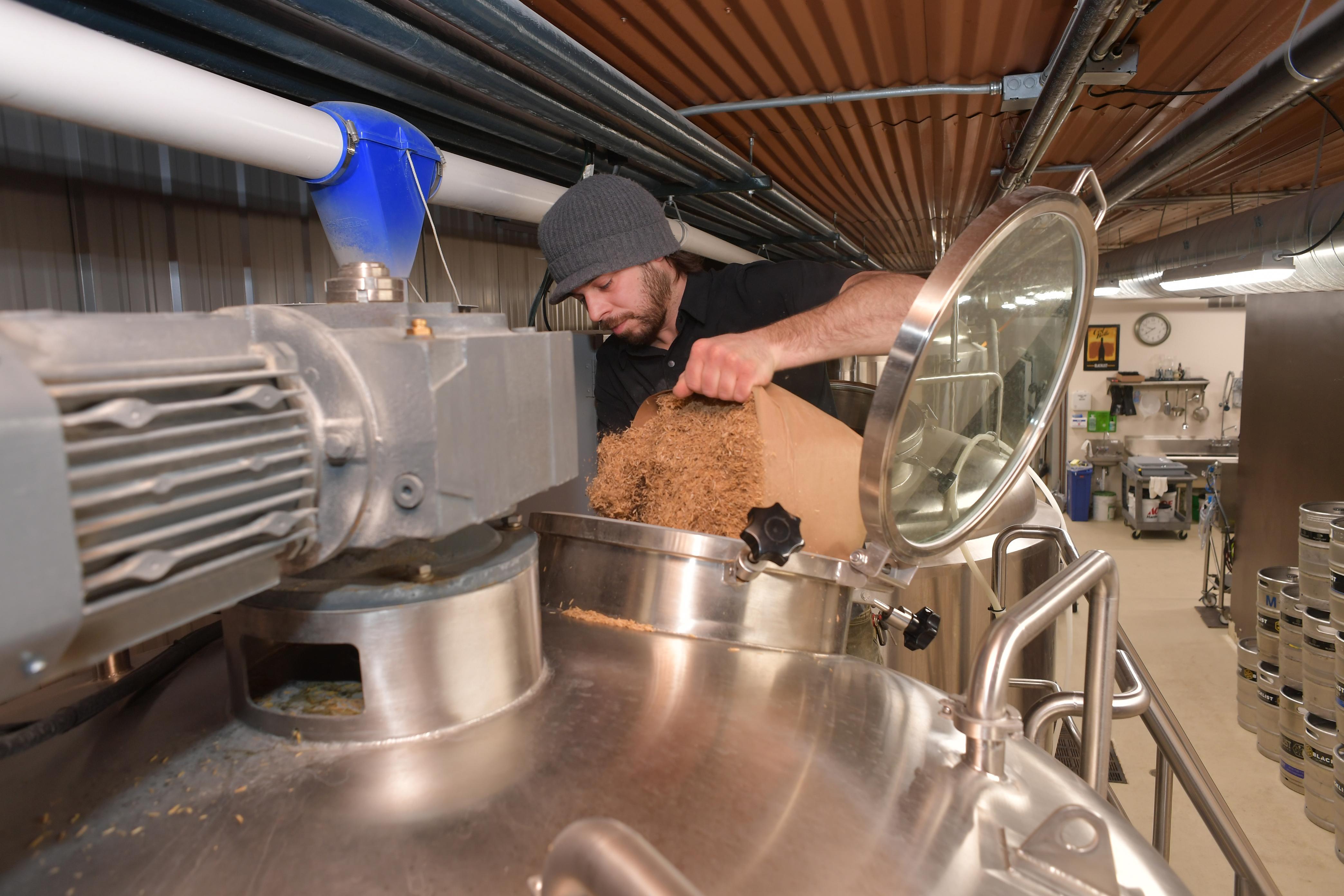 Brian Schanzenbach working at Blacklist Artisan Ales