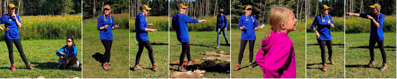 Tricia Mundt directs a wildlife game