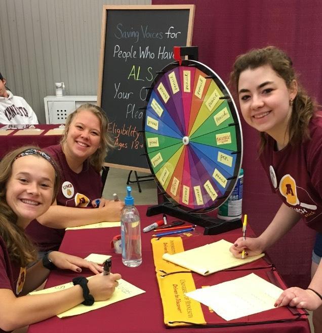 Students Jaclyn Friese, Sabrina Salmela, and Meaghan O'Connor