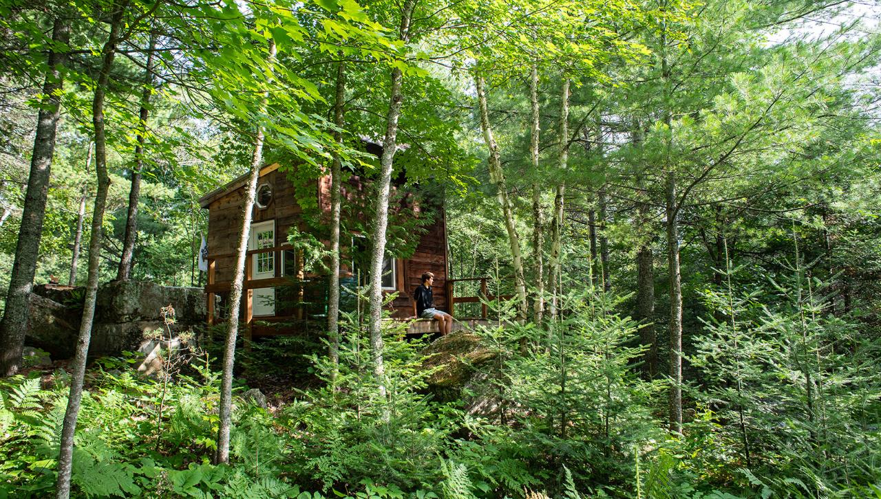 Freshman Robbie Licari at his beautiful wooded home