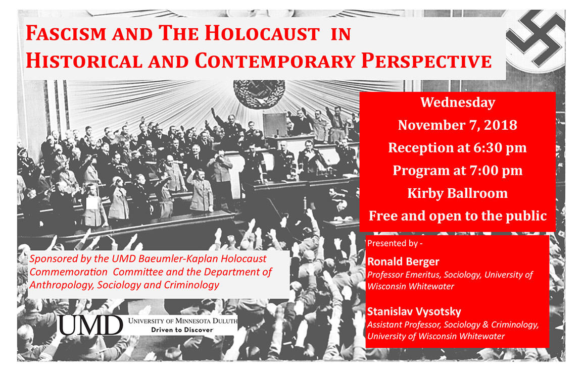 UMD poster Fascism and the Holocaust