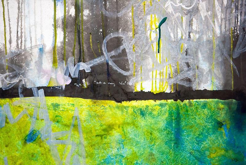 "A piece by artist Anne Labovitz for her ""122 Conversations"" exhibition"