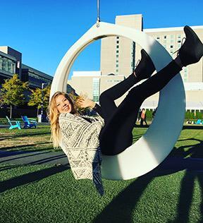 UMD alumna Allie Hoffman