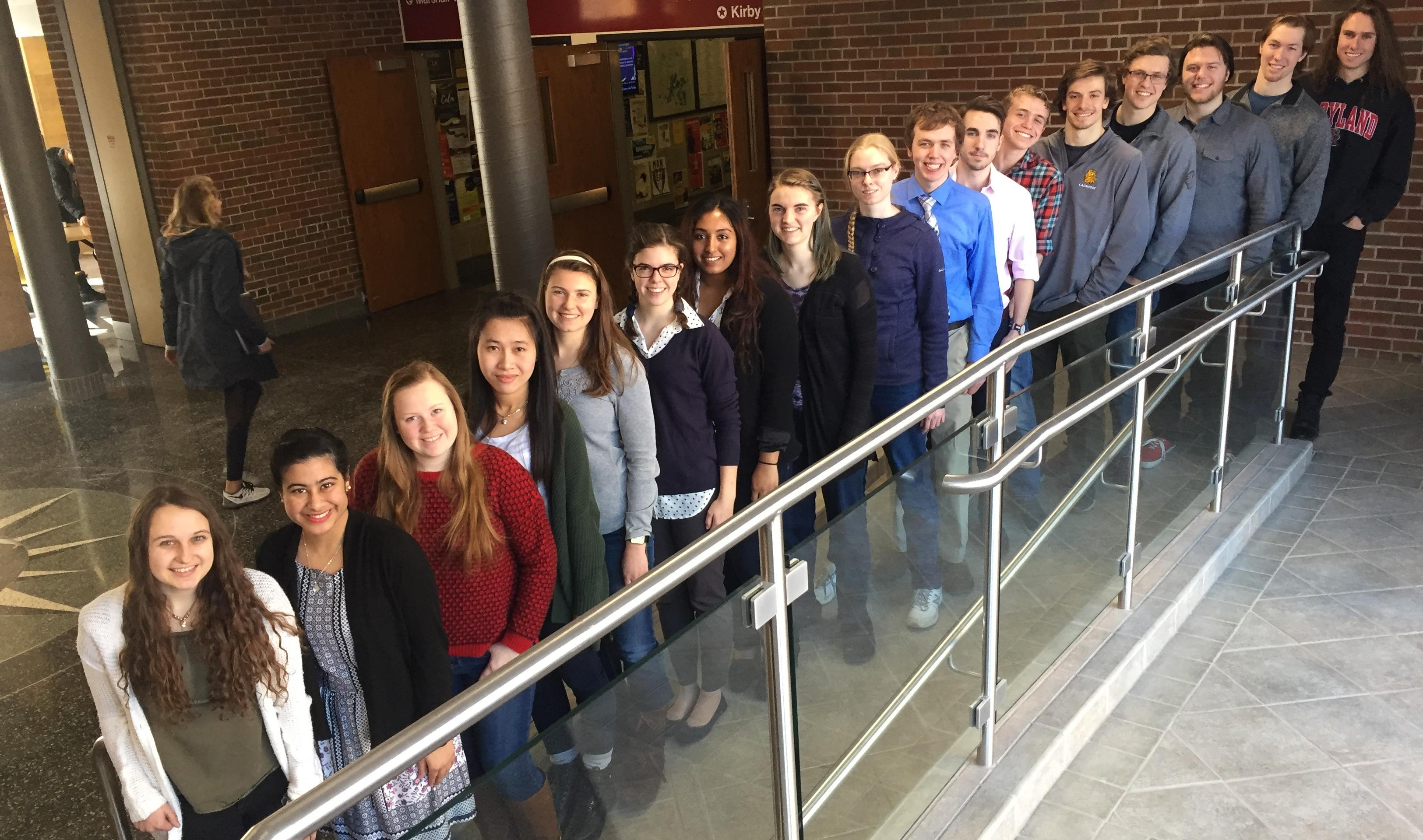 2017-18 Honors students