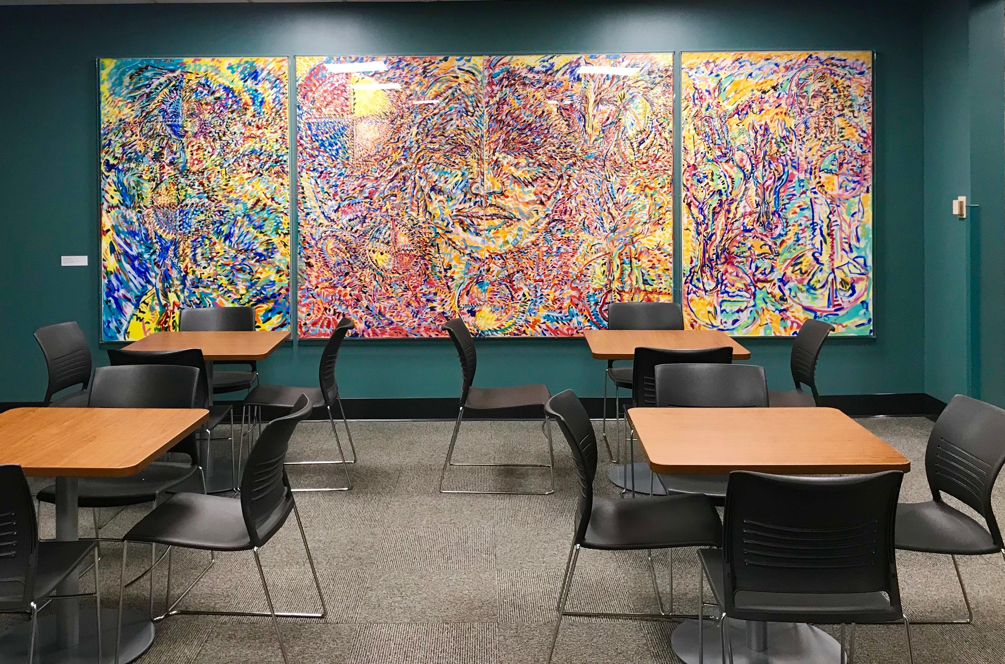 Murals in the Multicultural Center